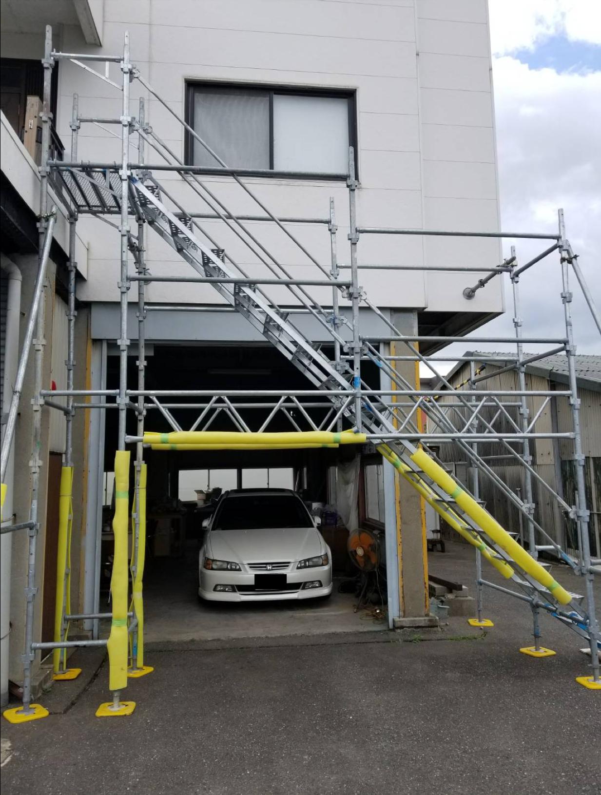 福岡市博多区 部分昇降足場  ※ほんの些細な仕事も致します。