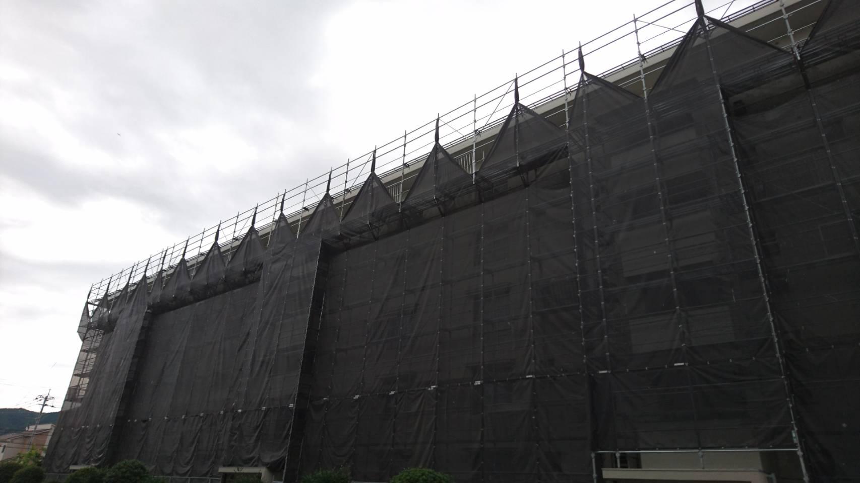 糟屋郡粕屋町  エバーライフ 15階建 30年2月に組み立て①