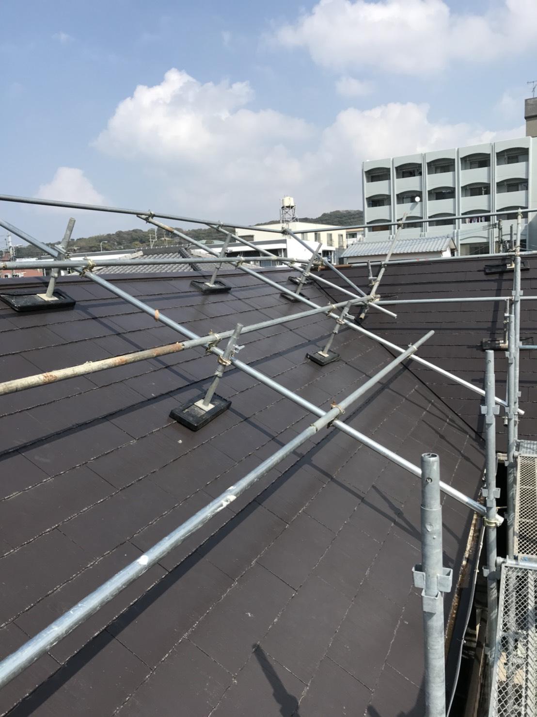 福岡市東区 一般住宅 屋根足場工事