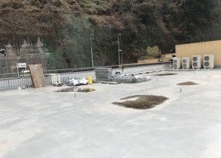 大分県中津市温泉施設 吊り足場工事 ①