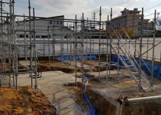 福岡市東区香椎 新築現場の通路足場工事