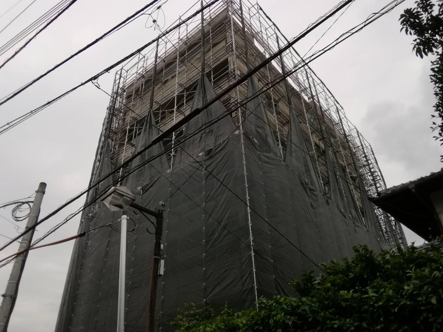 株式会社HAYATE 台風25号 対策養生 その④