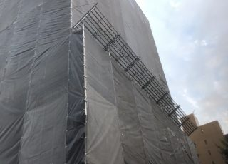 福岡市中央区高砂 7階建 大規模修繕工事 その⑴