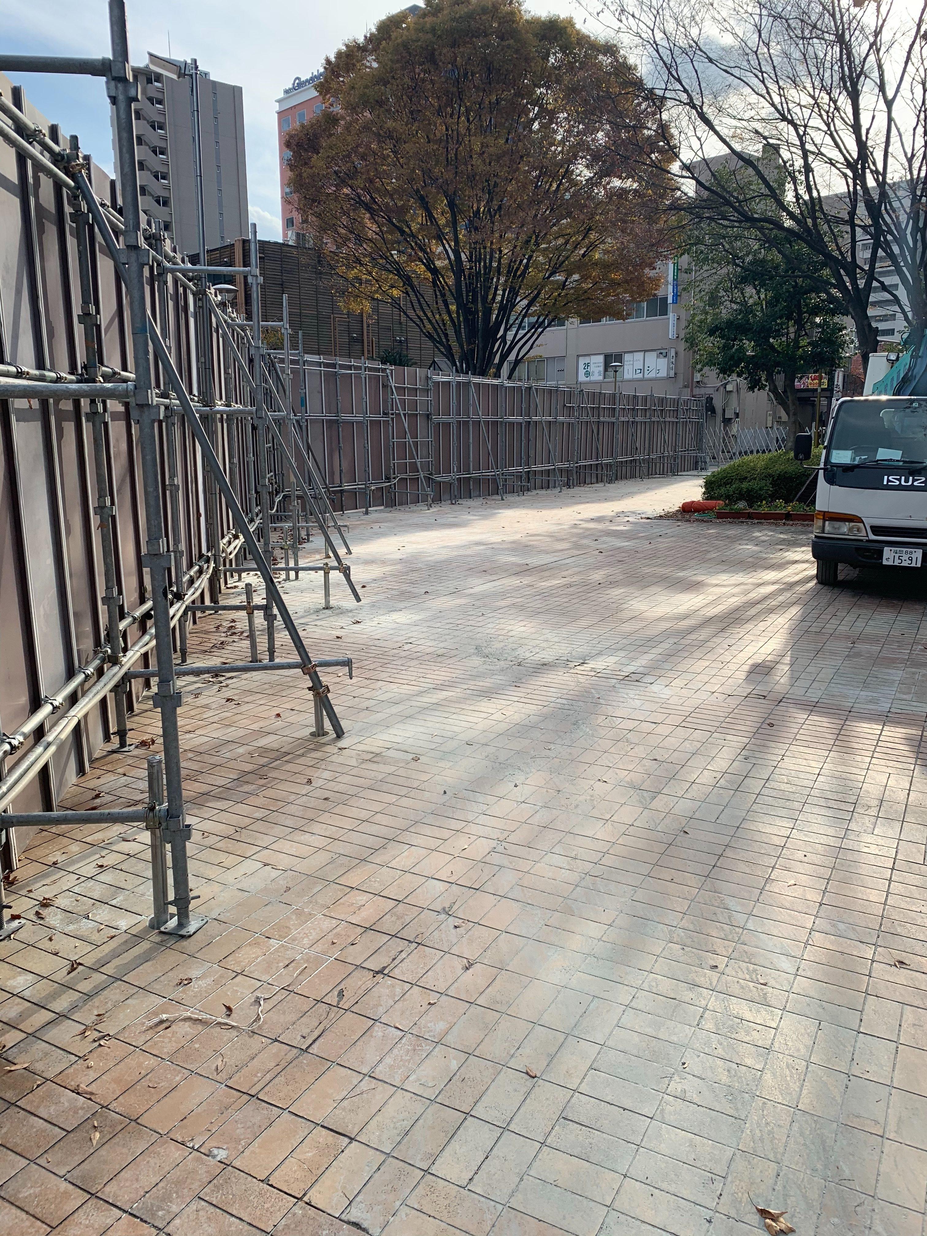 福岡県福岡市中央区 フラットパネル仮囲い工事 その⑵