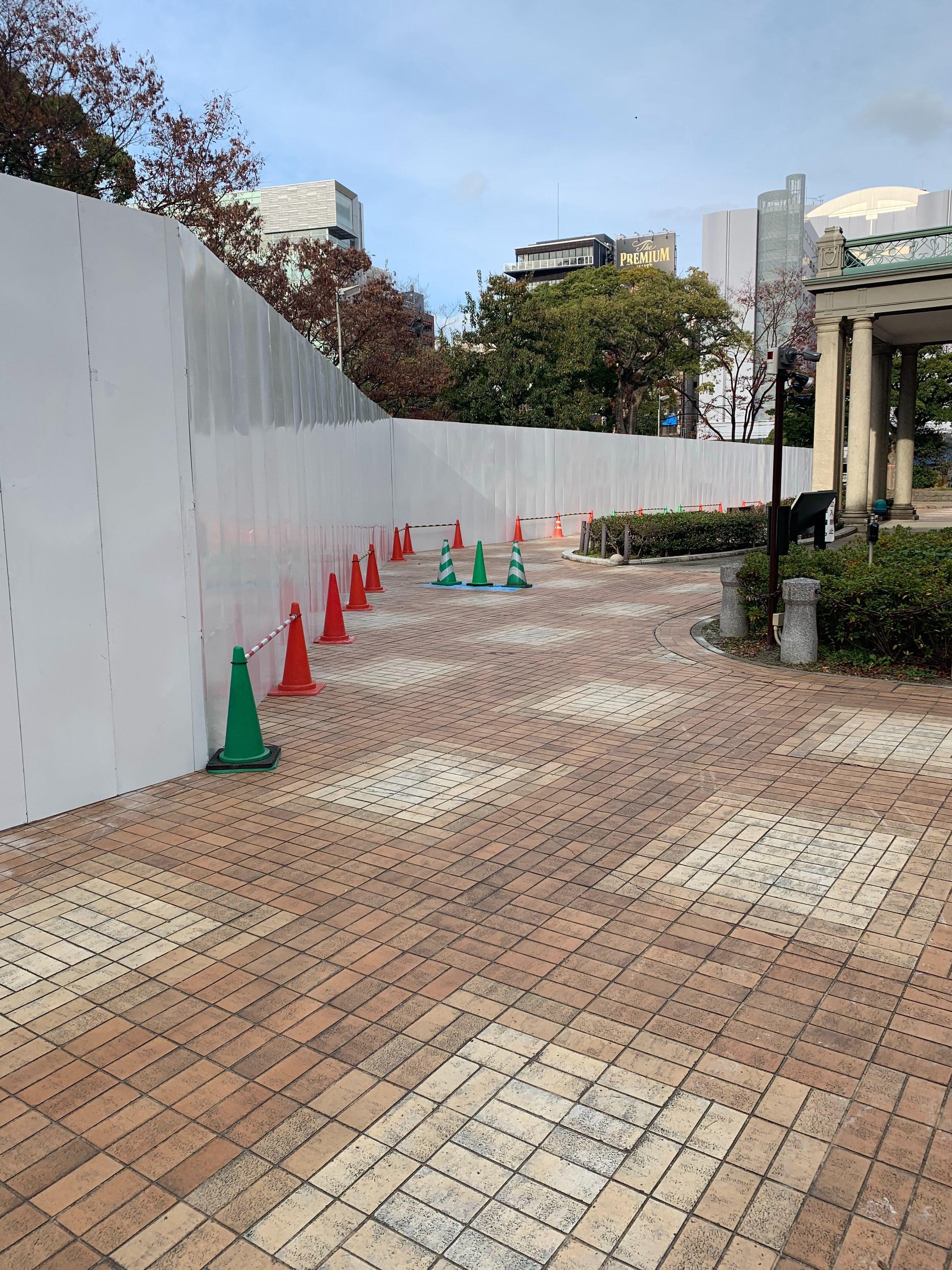 福岡県福岡市中央区 フラットパネル仮囲い工事 その⑴
