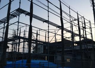 ハウスメーカー 新築足場組立工事 その⑴