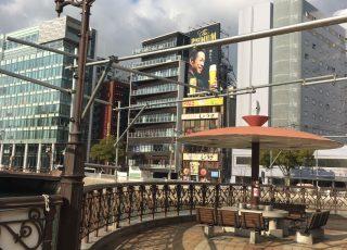 福岡県福岡市博多区 中洲 出合い橋 仮囲い足場①