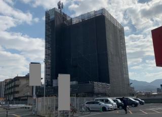 福岡県福岡市福岡西区 8階建 足場工事⑴(※完了)