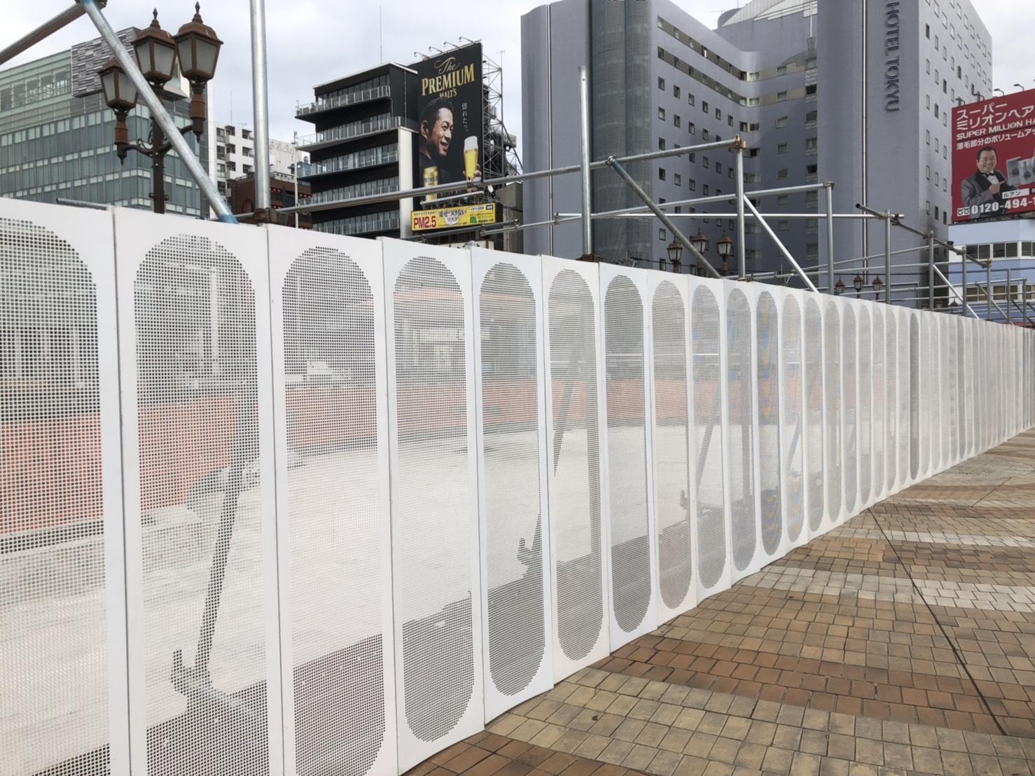 福岡県福岡市博多区中洲 出合い橋  仮囲い足場工事  本設通路足場工事⑵