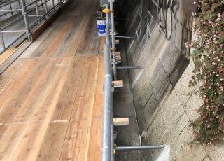 福岡県福岡市博多区中洲 出合い橋  仮囲い足場工事  本設通路足場工事⑶