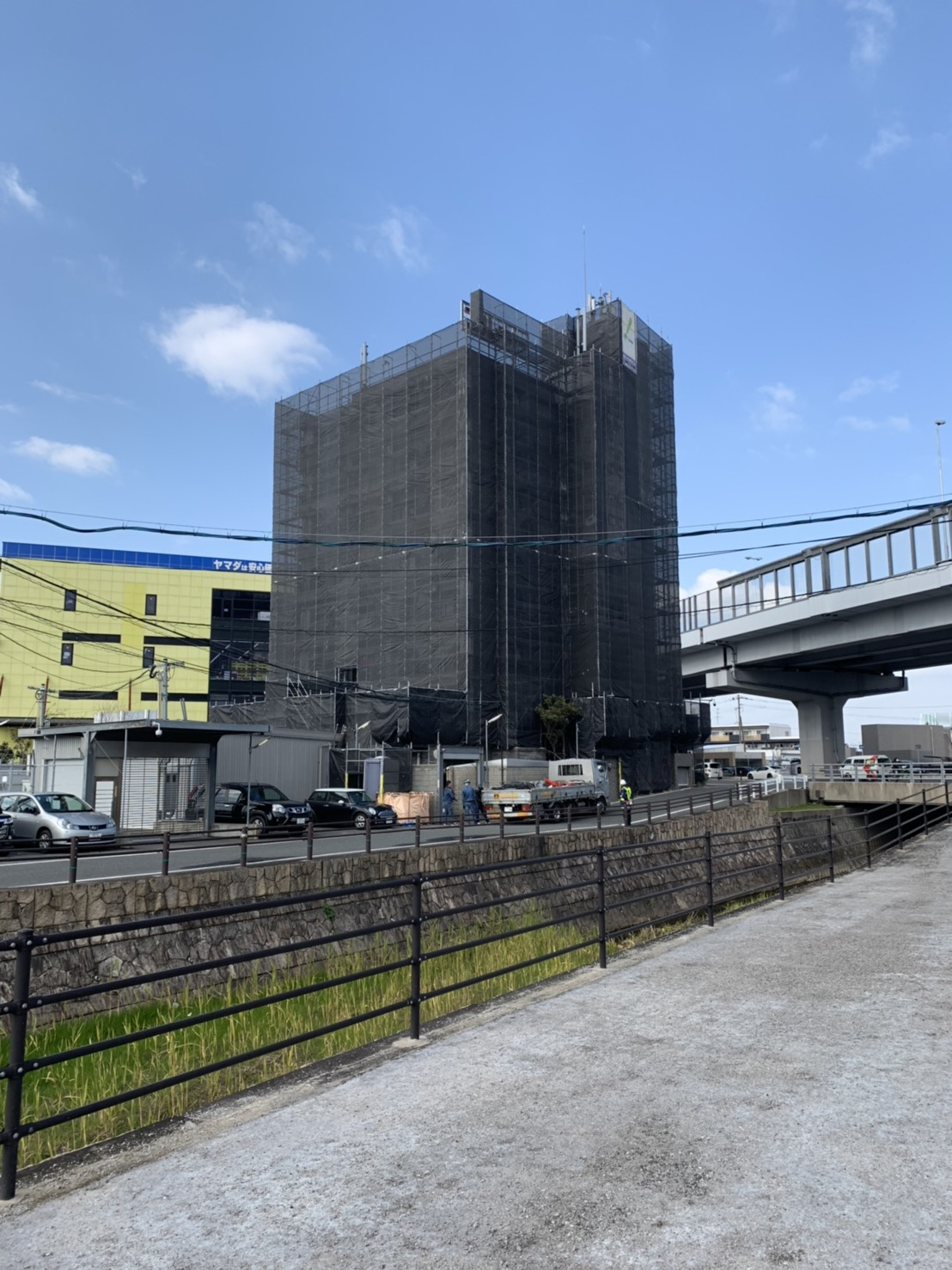 福岡県福岡市福岡西区 8階建 足場工事⑵(※完了)