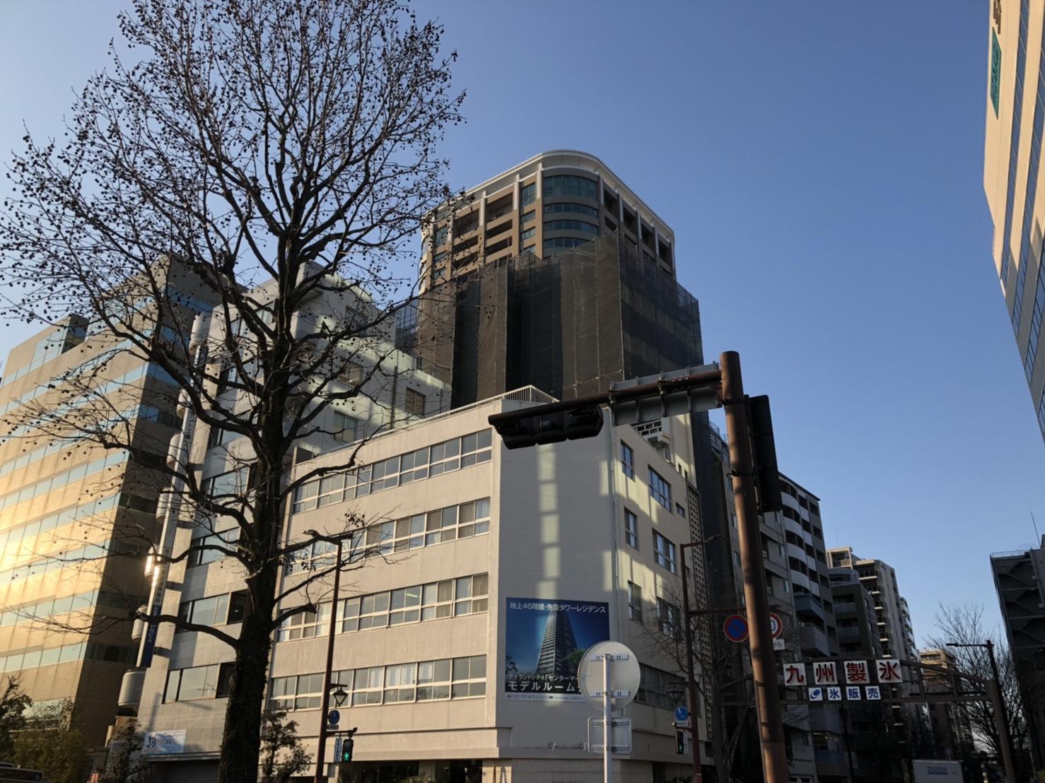 福岡県福岡市中央区中央区大手門  13階建大規模修繕工事