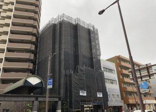 福岡県福岡市城南区 改修工事 足場