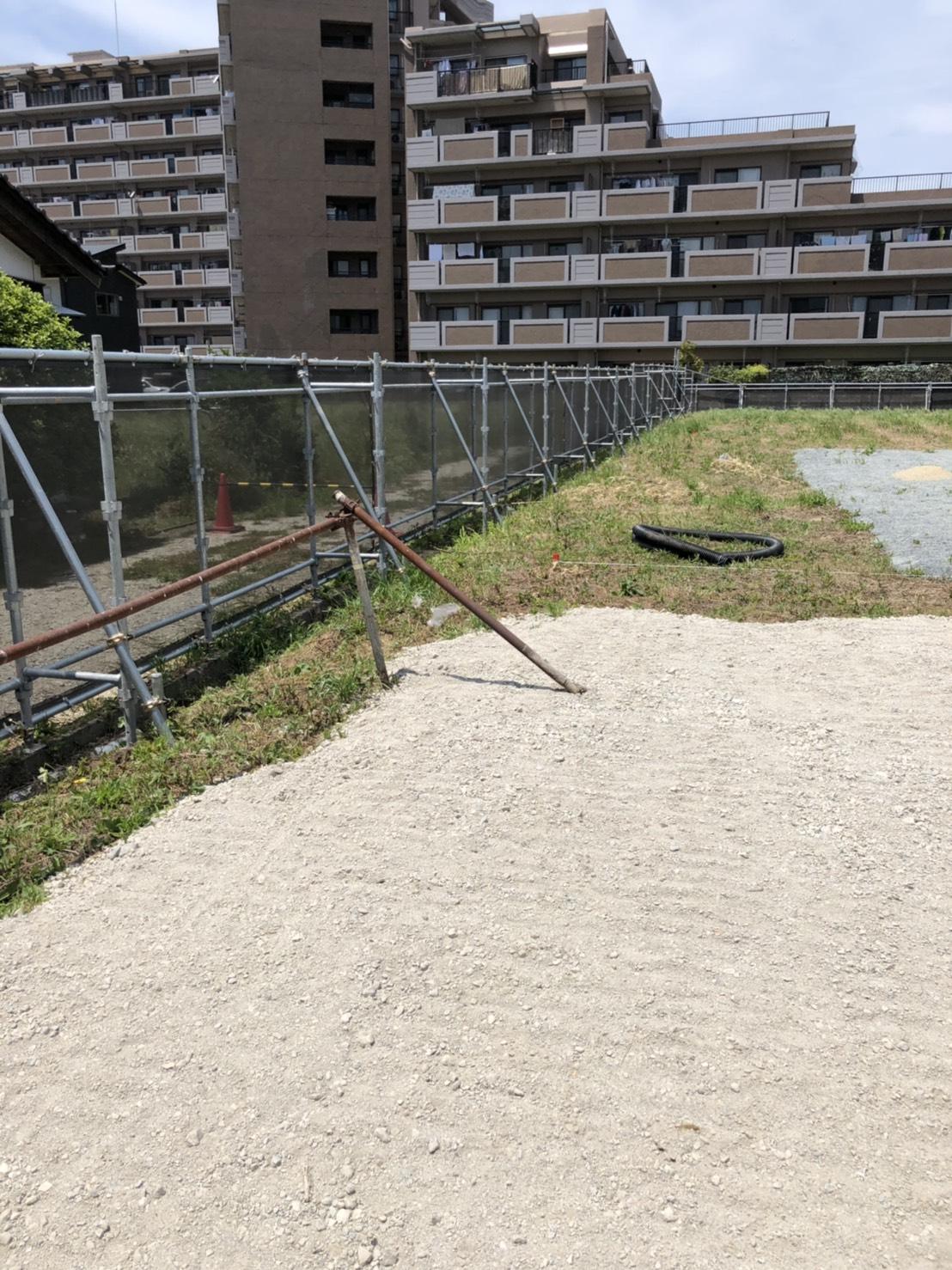 福岡県糸島市 仮囲い足場工事②