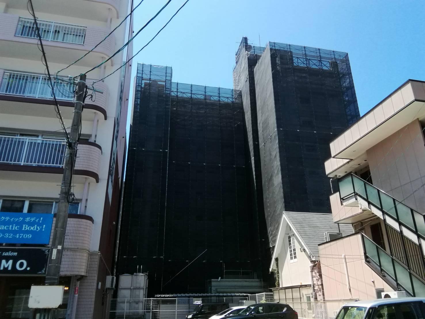 福岡県宗像市赤間 7階建 改修工事 足場②
