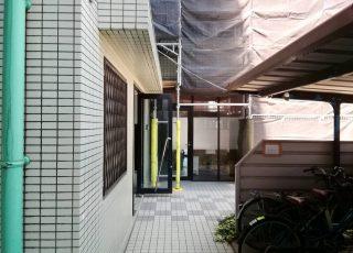 福岡県宗像市赤間 7階建 改修工事 足場③