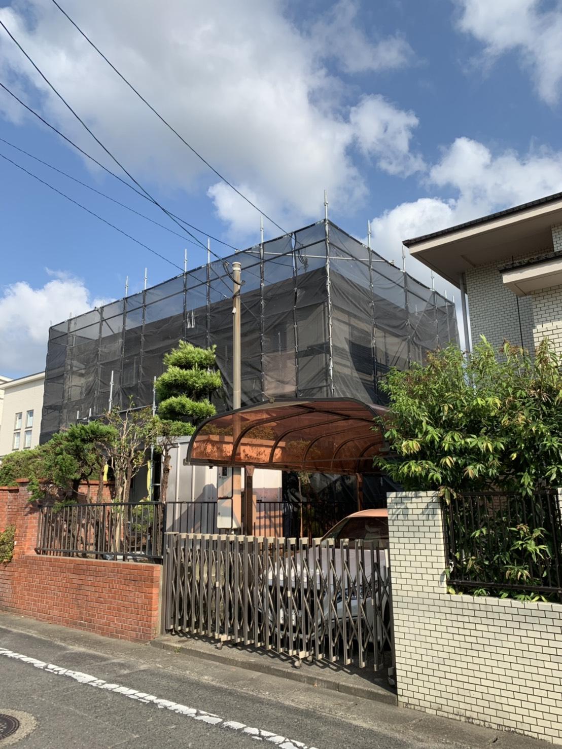 福岡県那珂川市 一般住宅足場工事①
