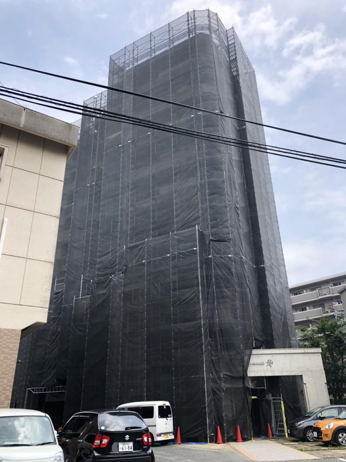 福岡県福岡市南区 エレガンス寿 10階建 大規模修繕工事③