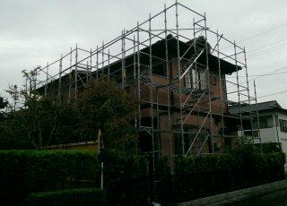 福岡県小郡市 一般住宅 足場工事