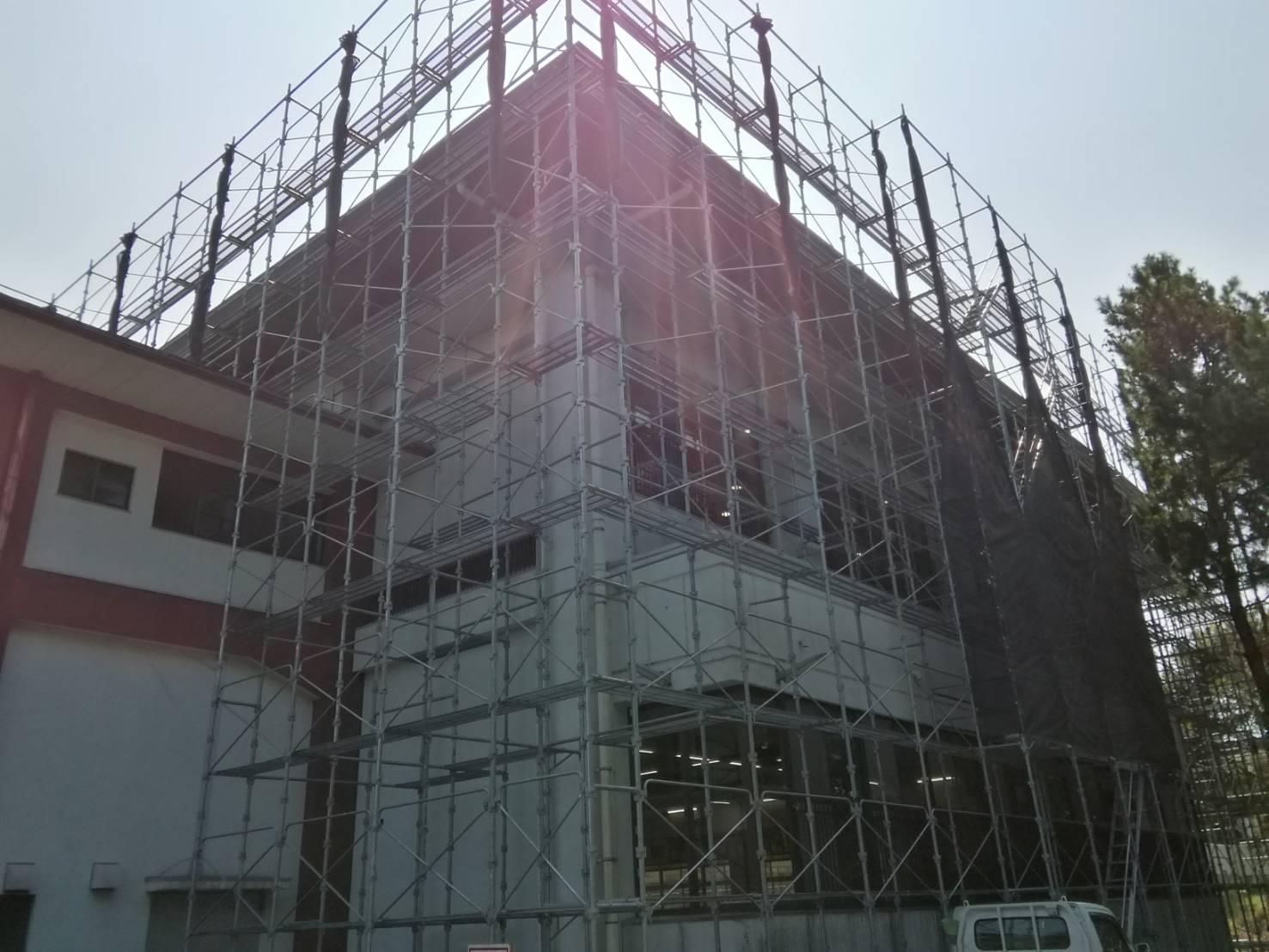 福岡県 台風8号による 台風養生