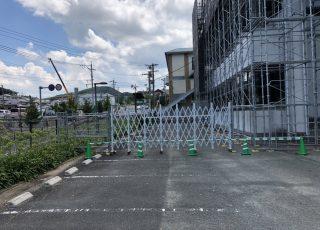 福岡県遠賀郡岡垣町民武道場  改修工事 足場②