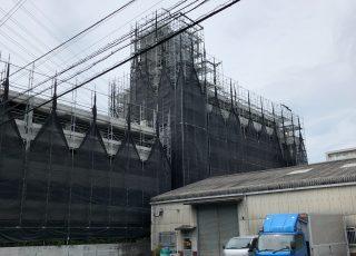福岡県福岡市東区 足場台風養生