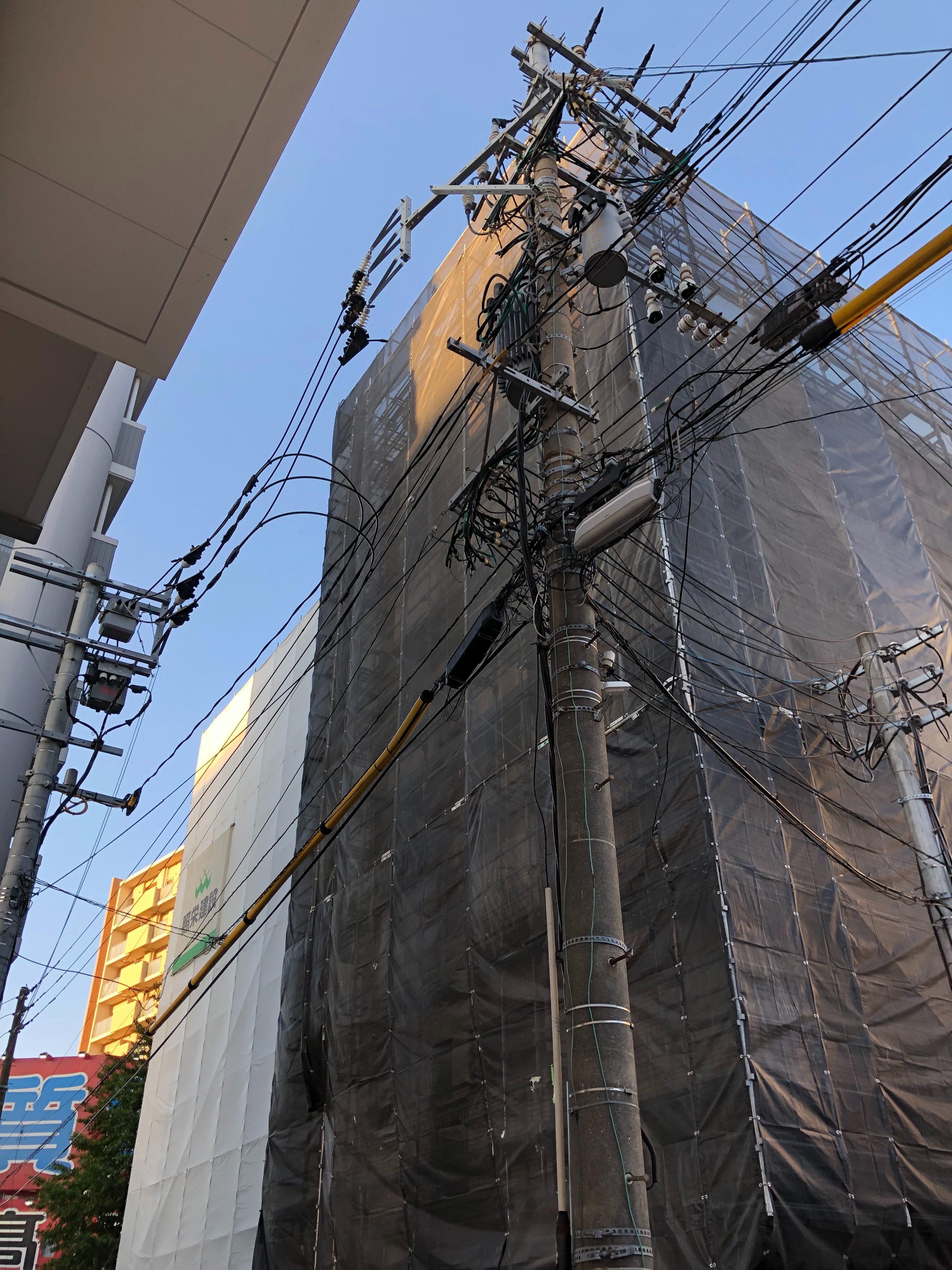 福岡県福岡市博多区 7階建 マンション改修工事 足場①