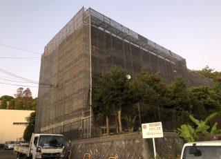福岡県福岡市東区 某団地 改修工事 足場③