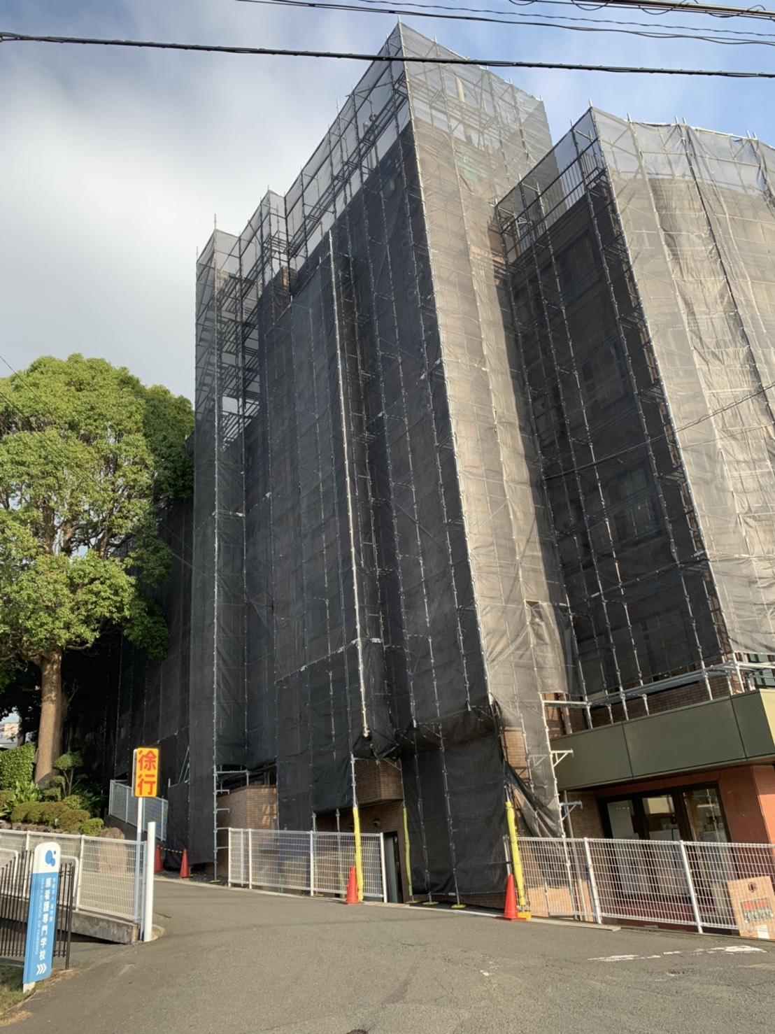 福岡県福岡市東区 某病院 部分足場工事
