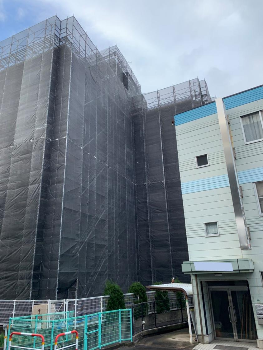 福岡県福岡市西区 8階建 マンション 大規模改修工事①