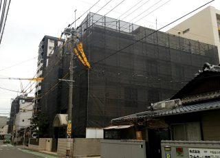 福岡県福岡市博多区 某施設 改修工事 足場