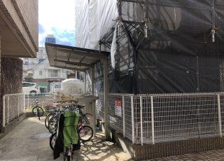 福岡県福岡市南区 3階建マンション 改修工事 足場①