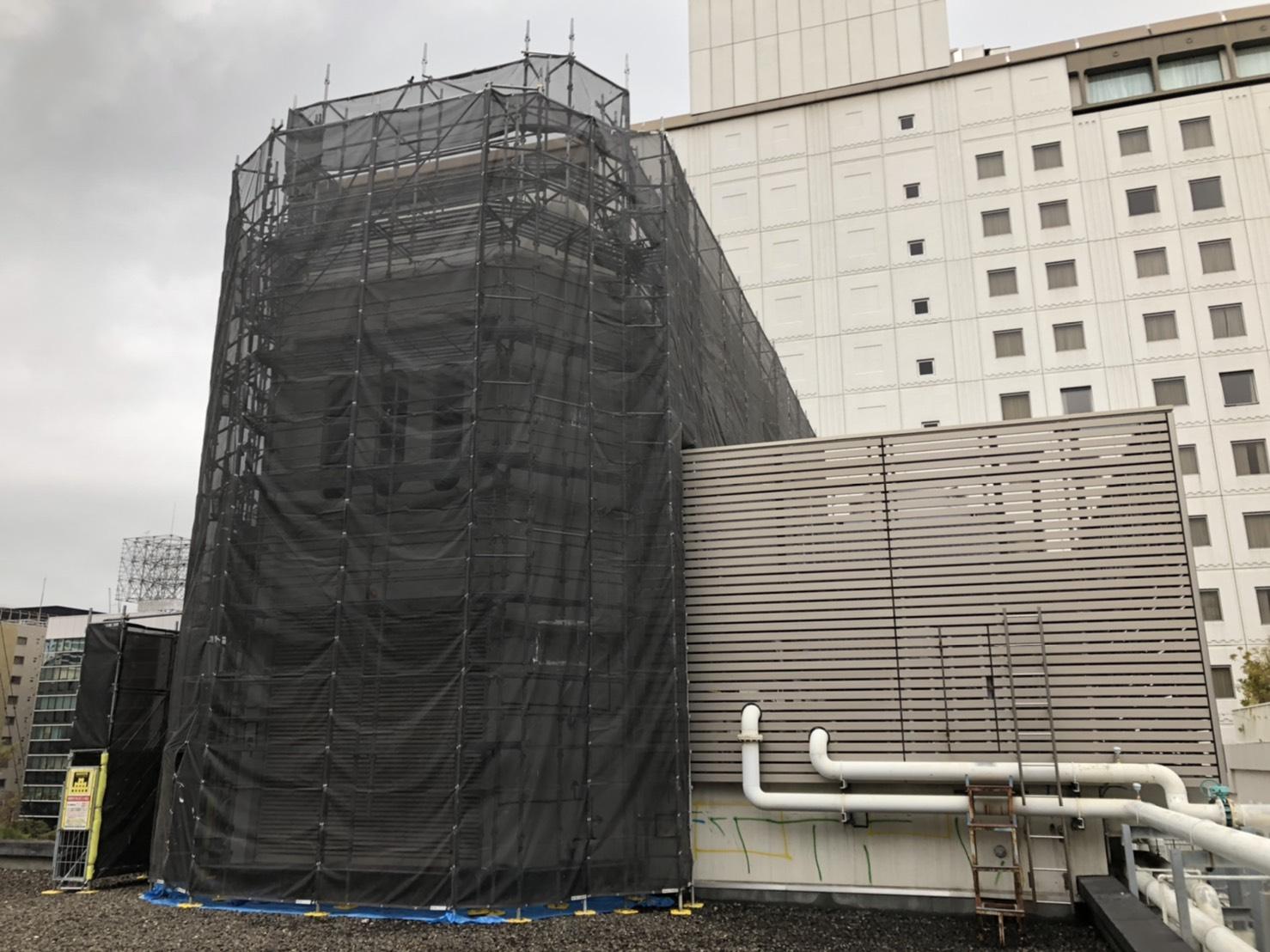 福岡県福岡市中央区大名 西鉄グランドホテル 屋上高架水槽部分 内外部改修工事①