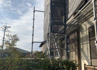 福岡県大野城市一般住宅 足場工事①