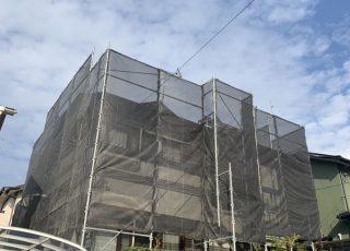 福岡県大野城市一般住宅 足場工事②
