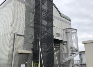 某警備保障会社 上部配管作業のための部分足場