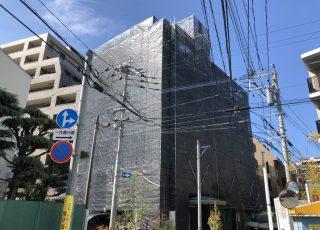 福岡県福岡市中央区大濠 大規模修繕工事 足場
