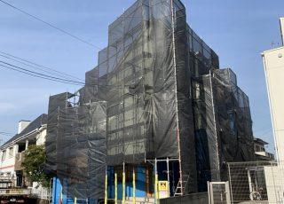福岡県春日市 住宅足場工事①