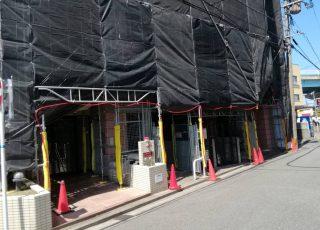 福岡県福岡市博多区 大規模修繕工事 足場②