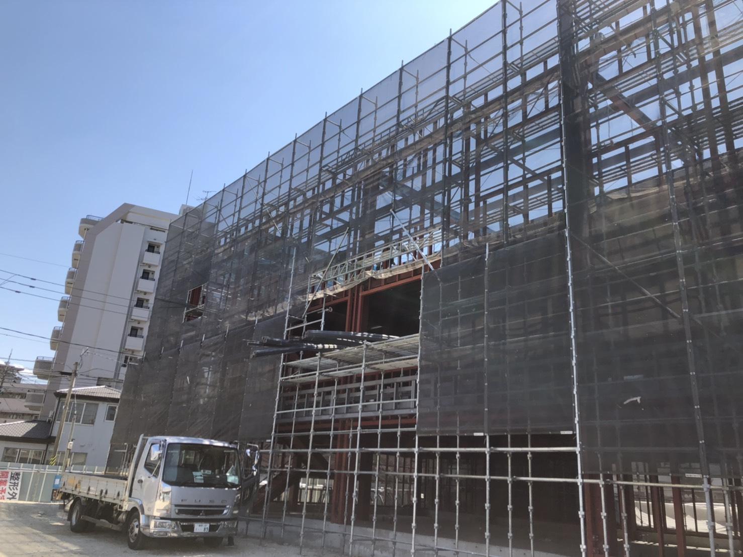 福岡県大野城市 新築足場工事②