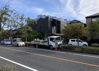福岡県筑紫野市 住宅改修工事 足場②