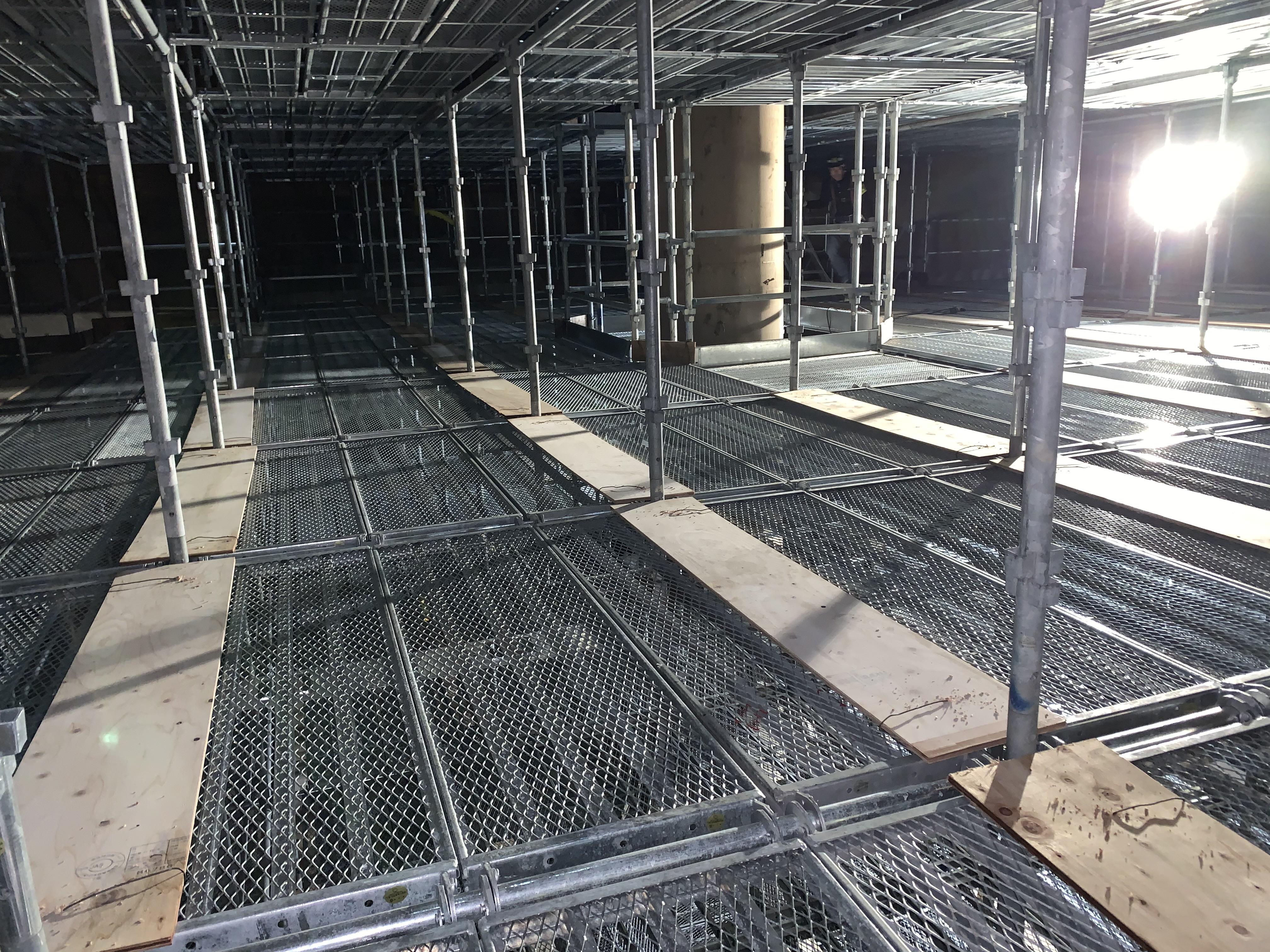 福岡市東区 水処理センター 貯水タンク内 足場工事⑭