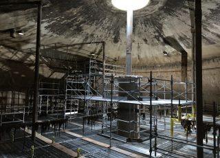 福岡市東区 水処理センター 貯水タンク内 足場工事⑫