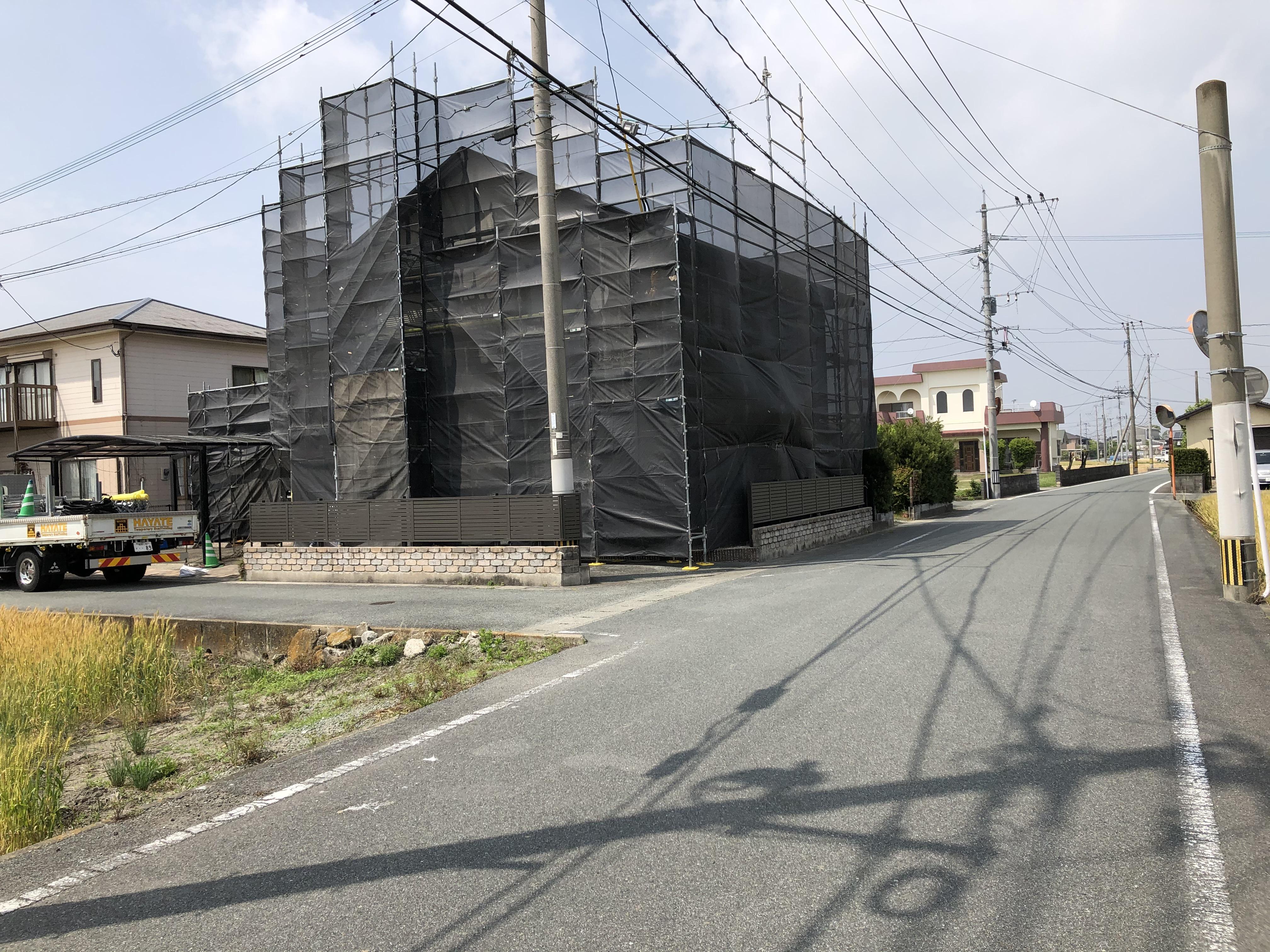 福岡県朝倉市 住宅足場工事 ②
