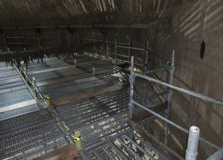 福岡市東区 水処理センター 貯水タンク内 足場工事⑬