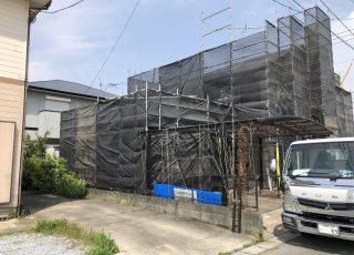 福岡県朝倉市 住宅足場工事①