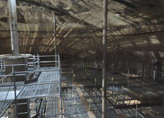 福岡市東区 水処理センター 貯水タンク内 足場工事⑪