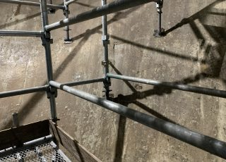 福岡市東区 水処理センター 貯水タンク内 足場工事⑩