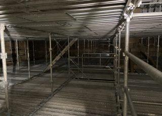 福岡市東区 水処理センター 貯水タンク内 足場工事⑨