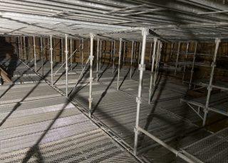 福岡市東区 水処理センター 貯水タンク内 足場工事⑧